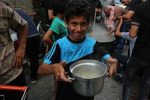 عکس/ افطاری نذری در غزه