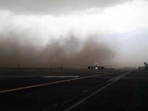 عکس/ طوفان در فرودگاه امام خمینی(ره)