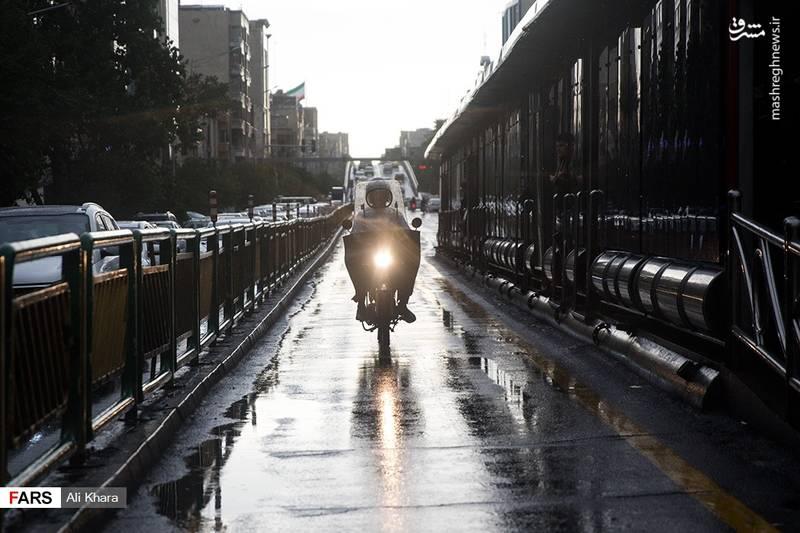 طوفان و باران در تهران