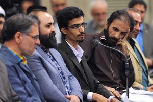 """فیلم/ شعرخوانی""""میلاد حبیبی""""در محضر رهبر انقلاب"""