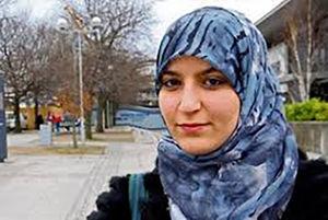 عکس/ اعتراض به قانون منع حجاب در دانمارک