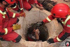 سقوط ۳ کارگر به عمق چاه ۲۰ متری +عکس