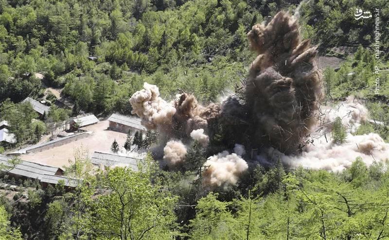 تخریب سایت آزمایش هستهای کره شمالی که چندی پس از آن، رئیسجمهور آمریکا دیدار خود با کیم جونگ اون را کنسل کرد!