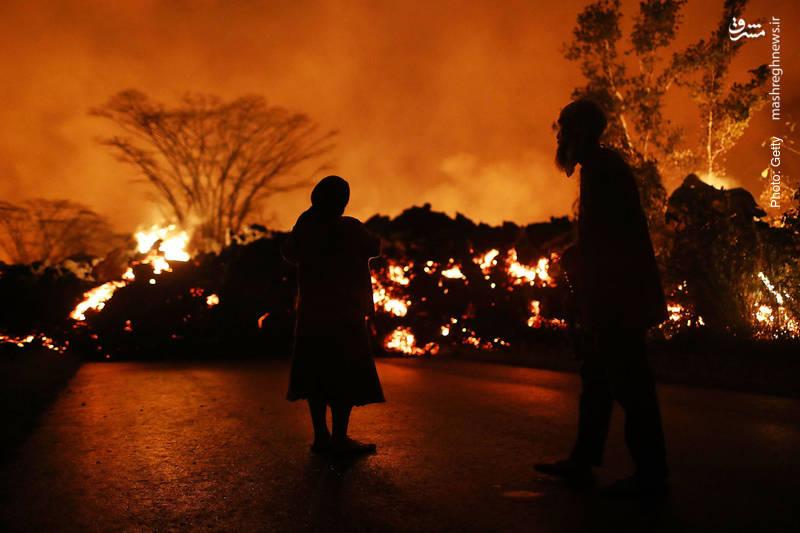 حسرت ساکنان جزیره هاوایی از خسارات فوران آتشفشان