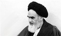 کارت تبریک نیمه شعبان مزین به تصویر امام(ره) در دوران نهضت اسلامی