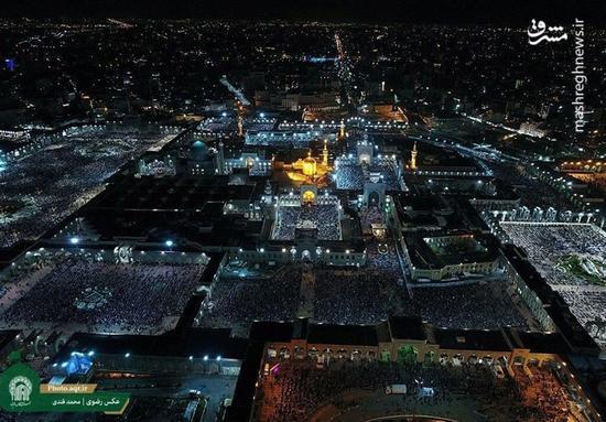 عکس/احیاء شب نوزدهم رمضان در حرم  رضوی