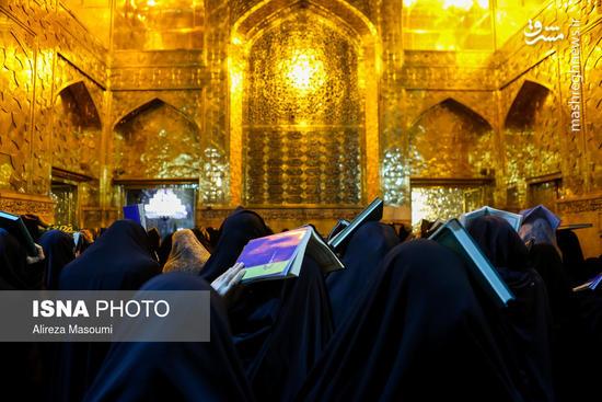 عکس/ شب زنده داری مردم ایران در اولین شب قدر