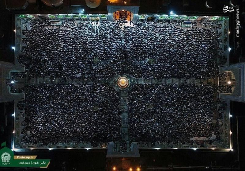 احیاء شب نوزدهم رمضان در حرم  رضوی