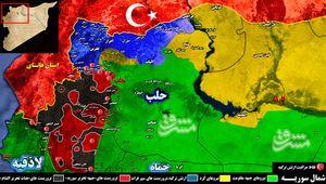 نقض توافق کاهش تنش در شمال سوریه با چراغ سبز نیروهای ارتش ترکیه + نقشه میدانی