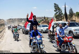عکس/ بازگشایی بزرگراه حمص به حماء پس از هفت سال