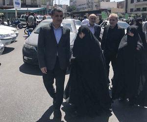 عکس/ همسر و فرزند مرحوم هاشمی رفسنجانی در راهپیمایی
