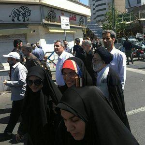 عکس/ فرزند ارشد رهبر انقلاب در راهپیمایی روز قدس