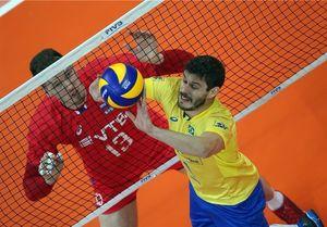 شکست روسیه مقابل برزیل در لیگ ملتهای والیبال