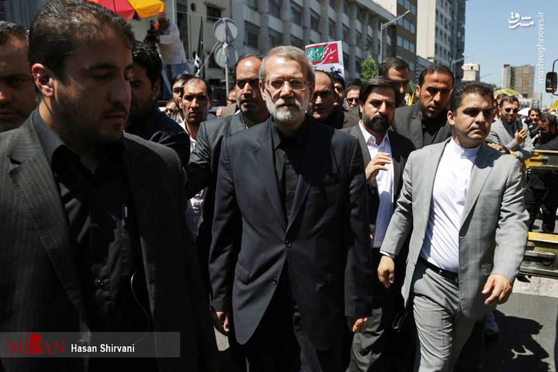 حضور علی لاریجانی، رئیس مجلس شورای اسلامی