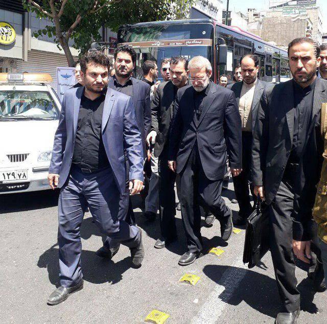 رییس مجلس در راهپیمایی روز قدس حضور یافت /میدان انقلاب