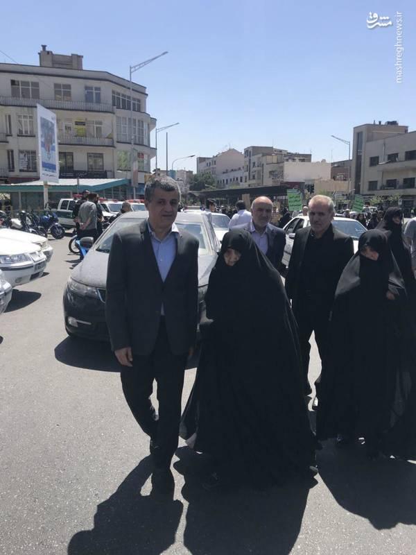 عفت مرعشی و یاسر هاشمی رفسنجانی