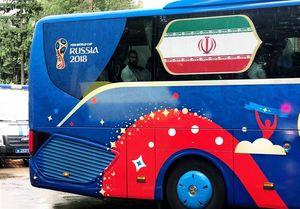 خیابانهای مسکو در تصرف اتوبوس تیم ملی ایران +عکس