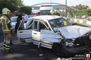 ۷۰ درصد تصادفها درون شهری است