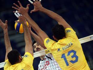 شکست نزدیک والیبال ایران مقابل برزیل +فیلم