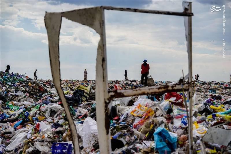 جستجو برای زباله های قابل بازیافت در زیمبابوه. 5 ژوئن روز جهانی محیط زیست است.