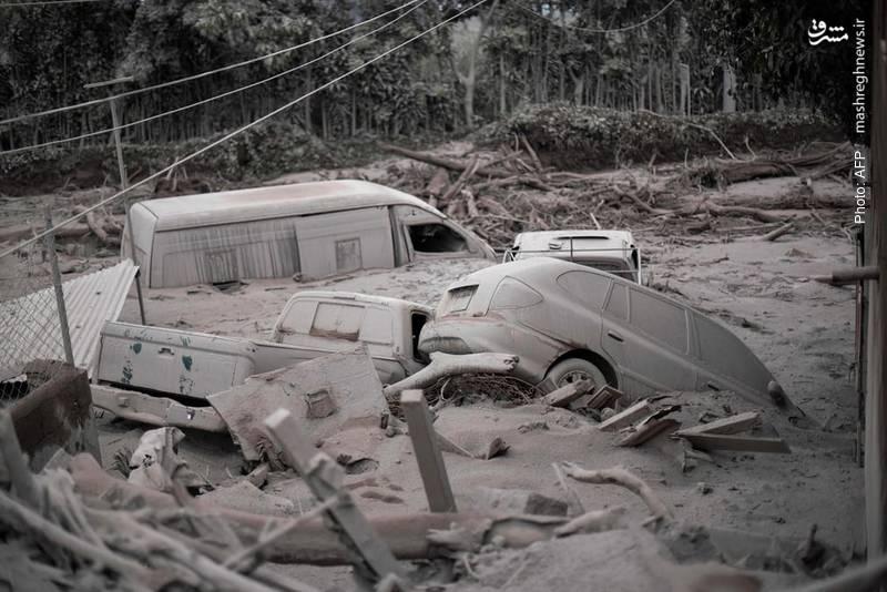 خسارات وارده به اموال مردم بر اثر فوران آتشفشان در گواتمالا