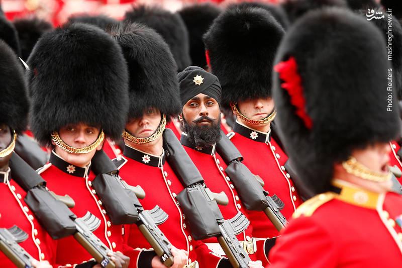 تمرین رژه روز تولد ملکه در لندن