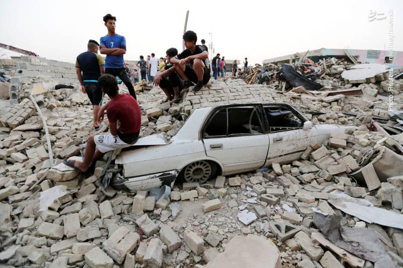 صدمات یک انفجار تروریستی در منطقه صدر بغداد