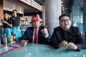 عکس/ دیدار بدل «اون» و «ترامپ» در سنگاپور