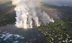 جدیدترین تصاویر هوایی از آتشفشان هاوایی