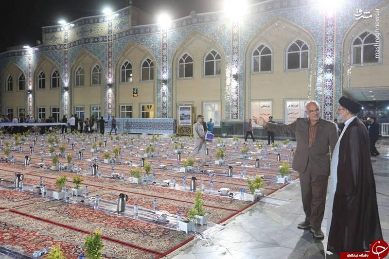 بزرگترین سفره افطار جهان اسلام در حرم امام رضا (ع )