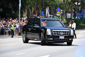 عکس/ خودروی ترامپ در سنگاپور