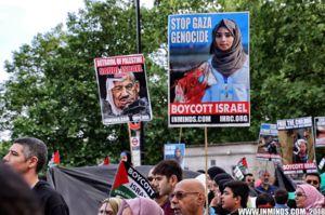 راهپیمایی روز قدس در لندن مقابل سفارت عربستان +عکس