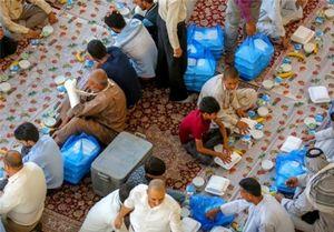 عکس/ برپایی ضیافت افطار در حرم امیرالمؤمنین(ع)