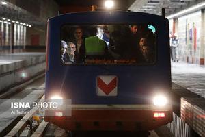 عکس/ بازدید شهردار تهران از خط ۷ متروی تهران