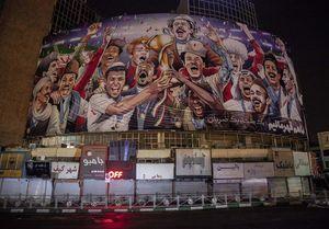 دیوارنگاره جدید فوتبالی میدان ولیعصر(عج)