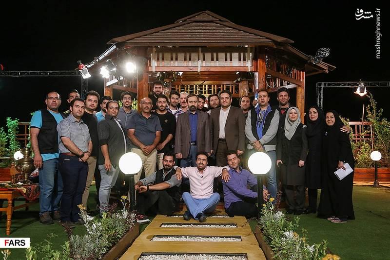 پشت صحنه برنامه تلویزیونی «ماه نشان»