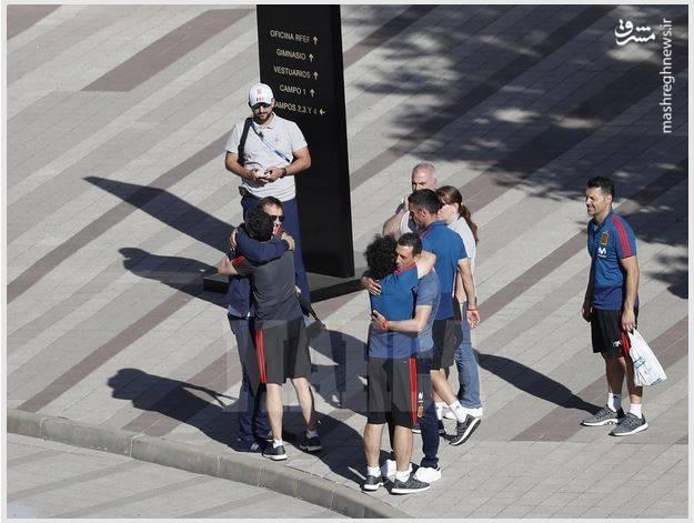 وداع لوپتگی با بازیکنان اسپانیا