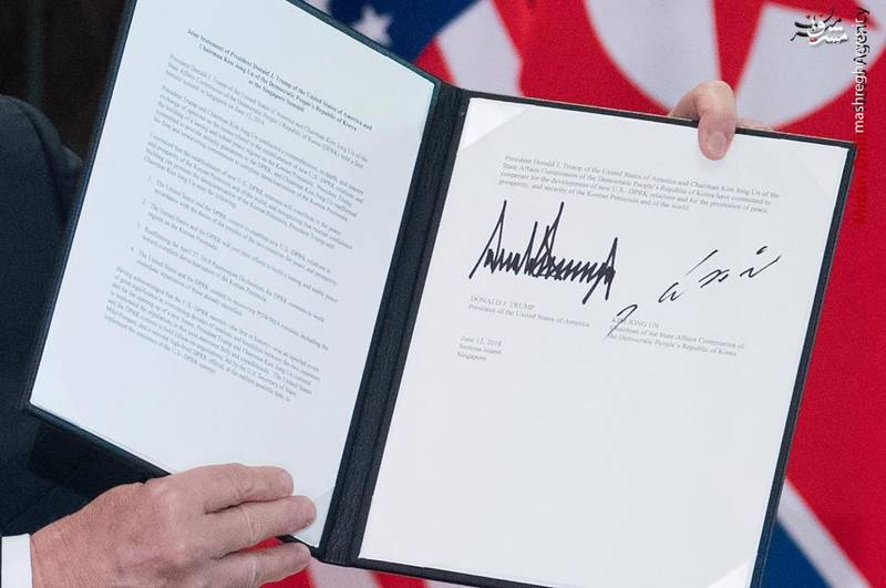 دستخط ترامپ و کیم چه چیزی را آشکار میکند +عکس