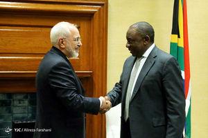 عکس/ دیدار ظریف با رئیس جمهور آفریقای جنوبی