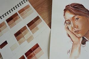 فیلم/ دختری که نقاشی اش بوی خون می دهد!