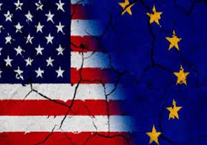 پرچم نمایه اتحادیه اروپا و امریکا