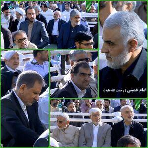 حضور چهرهها در نماز عید فطر مصلی تهران