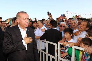 عکس/ حضور اردوغان در نماز عید فطر