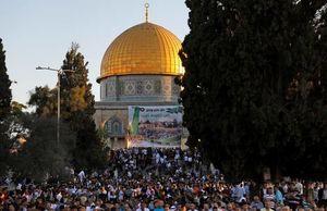 اقامه نماز عیدفطر در مسجدالاقصی