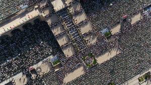 تصاویر هوایی از نماز عید فطر امروز مصلی تهران