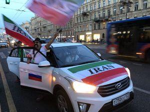 عکس/ شادی هواداران ایران در سن پترزبورگ