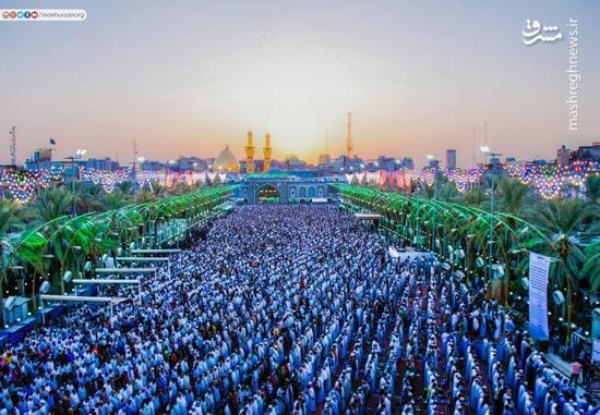 عکس/ نماز عید فطر در کربلای معلی