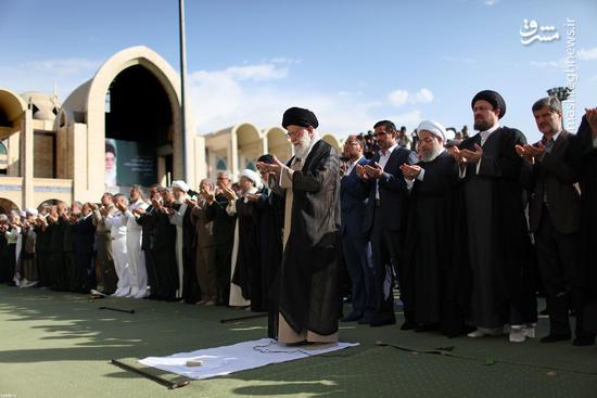 عکس/ نماز عید سعید فطر به امامت رهبر انقلاب