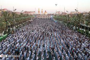 عکس/  نماز عید فطر در بین الحرمین