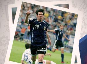 عکس/ اولین حضور مسی در جام جهانی